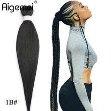 Aigemei Jumbo Braids Crochet Hair 22 Inch 85/Pack Kanekalon Fiber Synthetic Braiding Hair For Women 1B 2# 4# 30# 99J(China)