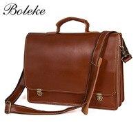 Men Briefcase Genuine Leather Bag Full Grain Leather Handbags Office Bag for Men Messenger Bag Men Leather Laptop Bag Briefcases