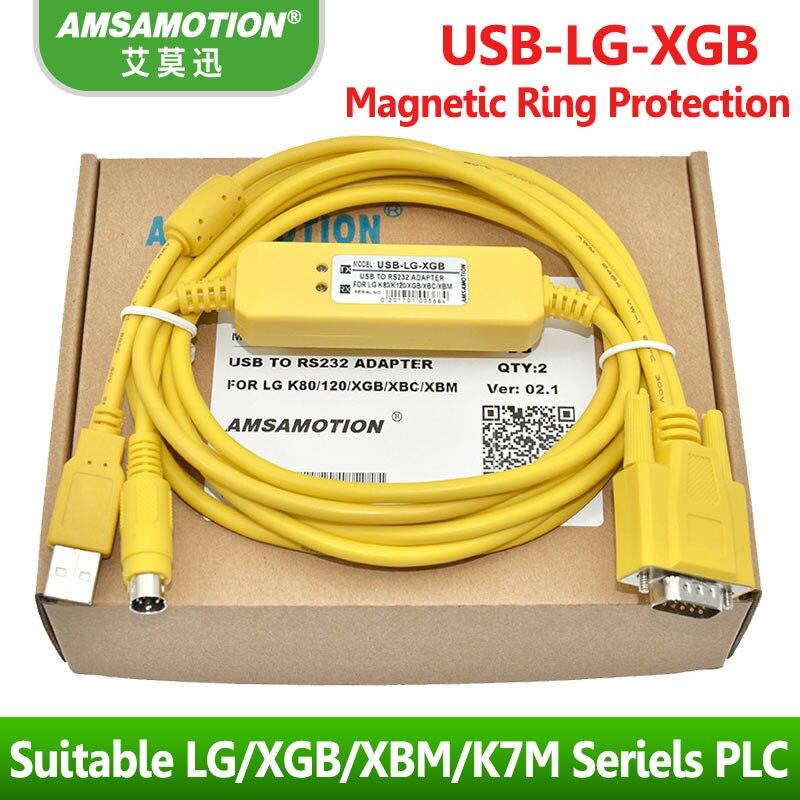 цена на Suitable LG LS XBC XBM K7M Series PLC Programming Cable Download Line USB-LG-XGB