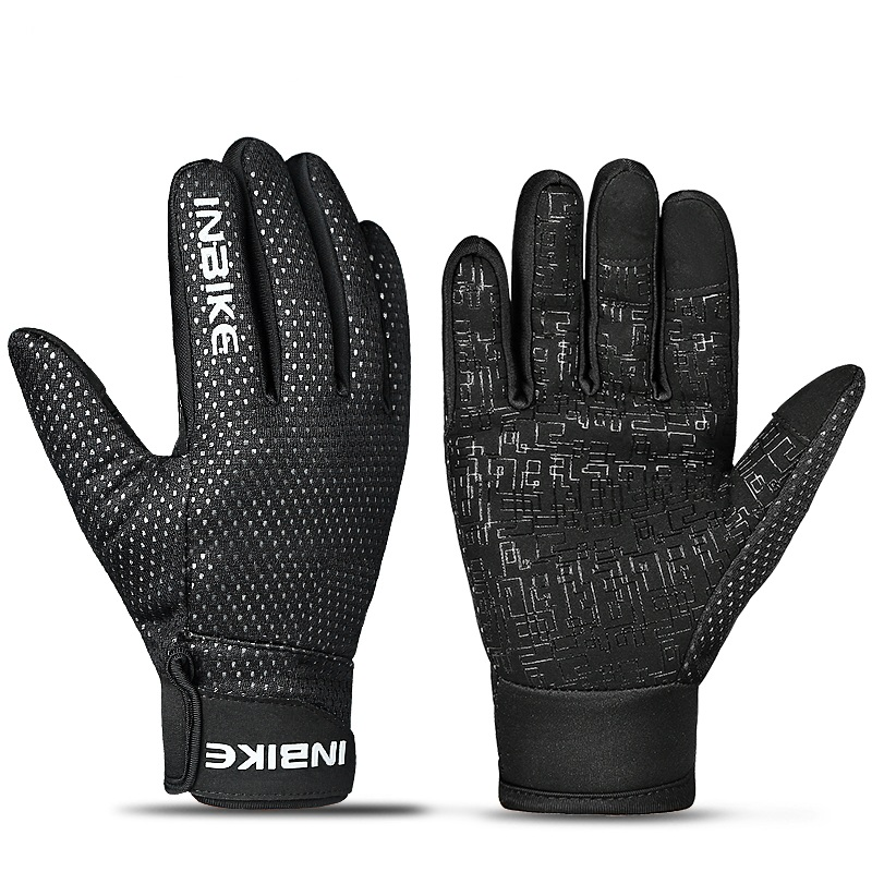 INBIKE Winter Full Finger Gloves Windproof Warm Men Women Gloves for motorcycle Comfortable Cycling Driving Bike Sports Gloves