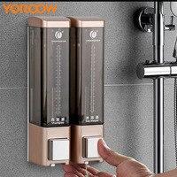 Hotel Hand Liquid Soap ABS 450ml Soap bottle Shower Shampoo Wall Mounted Dispenser Soap dispenser Container Zeep XN0003