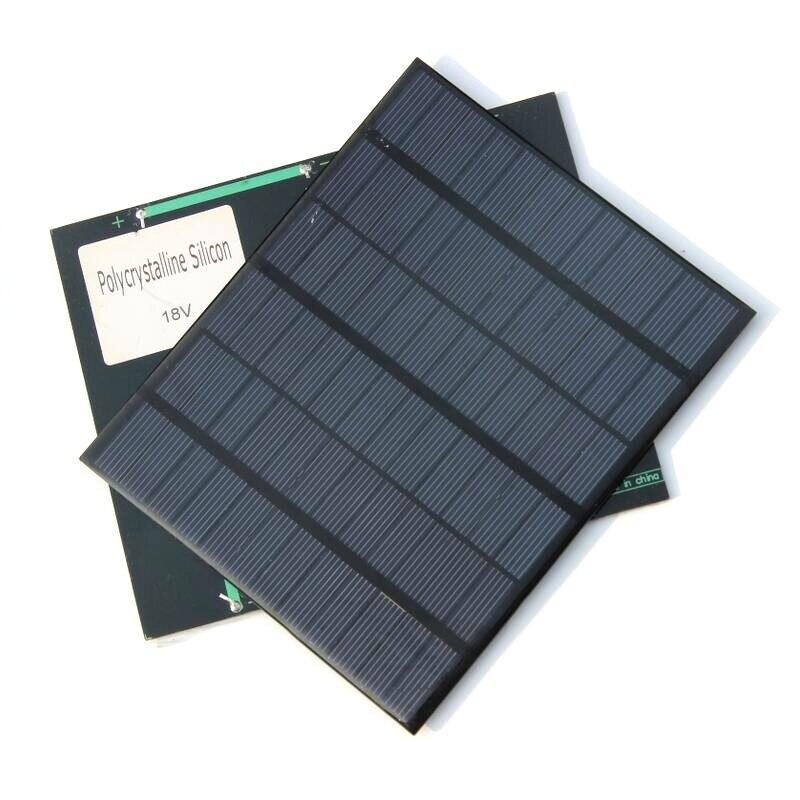 BUHESHUI 18V Polycrystalline Mini Solar Panel 3.5W Solar Cells Module 12V Battery Charger Solar Kits 135*165MM Free Shipping