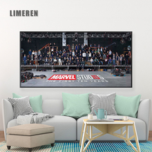 Marvel Movies The First Ten Years Canvas Printing Posters Wall Art Painting Avengers MCU Film Pictures Home Decoration