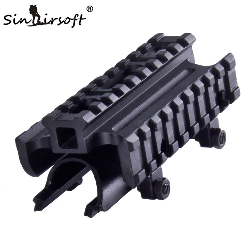 Sinairsoft New Gen SKS Tri-Rail Tactical See-thru Receiver Cover Scope Mount  MNT-T640TR SA4406