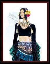 Aksamitna tłuszczu szansę Tribal Choli brzucha do tańca, długa z długim rękawem top FA01 FA06