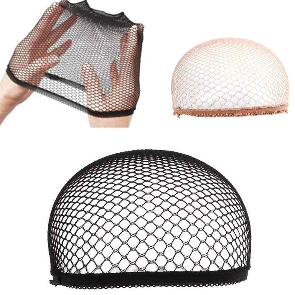 Gorra de Peluca de malla fresca elástica, tela tejida, redes para el pelo, redecilla, redecilla, modelo de Cosplay, peluca, gorra de malla para peluca elástica