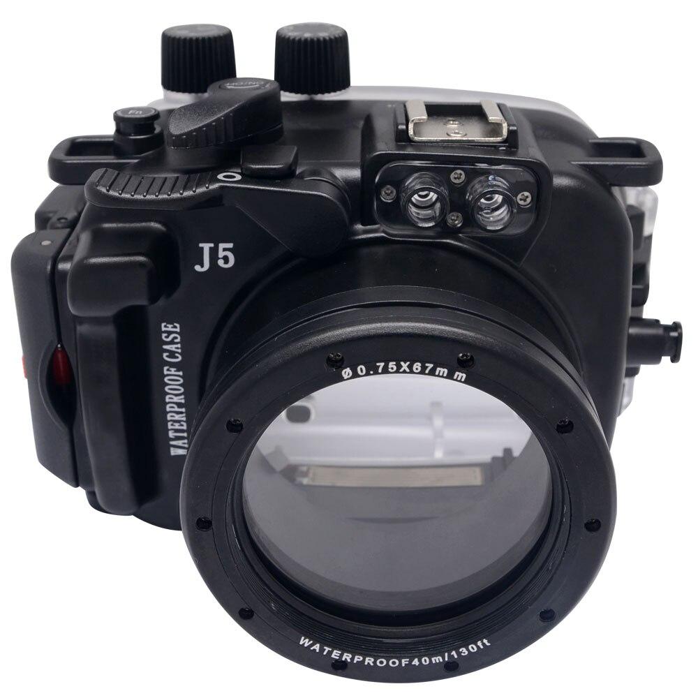 Mcoplus 40M/130ft Waterproof (IPX8) Camera Underwater Housing Waterproof Shell Case For Nikon J5 10 30mm Lens