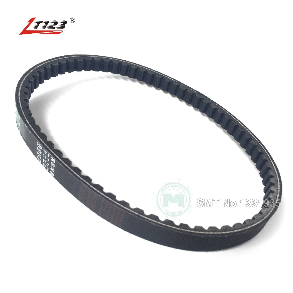 LT123 Scooter Moped Hight Quality Rubber Drive Belt 729 17.7 för GY6 50cc (Long-Case) Jonway Roketa Vento Quad Buggy Go Kart