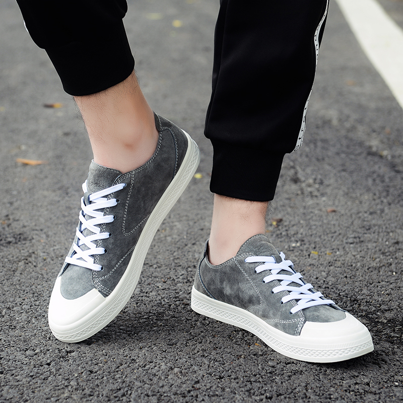 Pour Nouvelles Walker Up Sneakers Lace Mâle Appartements beige Homme Black Hommes Cuir Pic grey En Occasionnels Véritable Mode 2019 Chaussures D'étudiant Marque TvOYxnFF