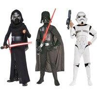 Child Movie Star Wars The Force Awakens Villain Character Darth Vader Cosplay Halloween Christmas Cosplay Costume