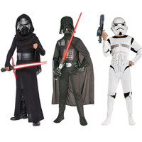Child Movie Star Wars The Force Awakens Villain Character Darth Vader Cosplay Halloween Christmas Cosplay Costumes