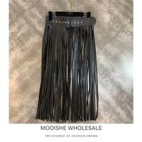 Belt Buckle Tassel Strip Women Skirt Hollow High Waist Woman Half 2019 Spring New Midi Skirt