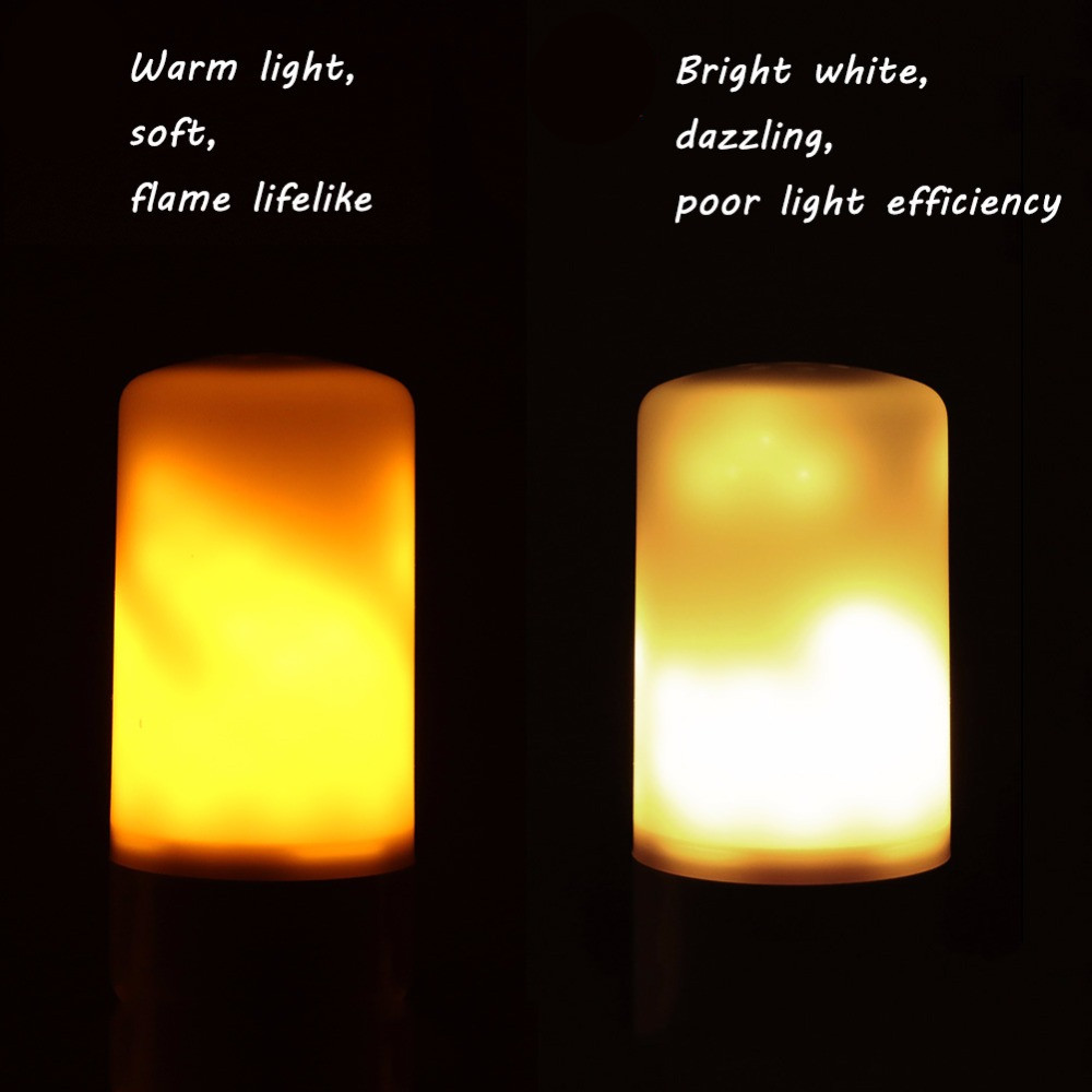Luzes da Noite chama luz atmosfera lâmpada decorativa Function 1 : Led Flame Night Light