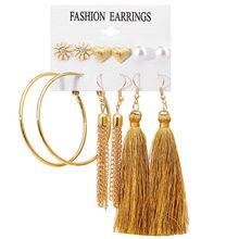 2019 New Tassel Leaves Ladies Earrings Bohemian Geometric long Dangle Earrings Fabric Women Fashion Jewelry innopes 2019 bohemian long unique women s earrings dangle earrings jewelry earrings