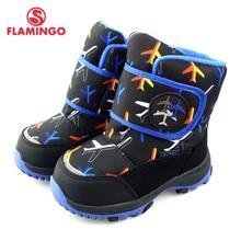 Kids Shoes FLAMINGO Snow-Boots Waterproof Winter Wool Anti-Slip for Boy 82M-QK-0941 High-Quality
