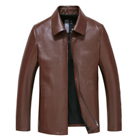 HRM Spring 2016 New Leather Leather Men S Leather Jacket Slim Thin Section Lapel Sheep Skin