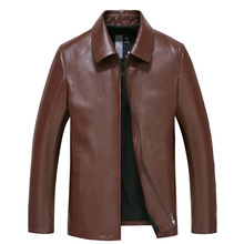 HRM Spring 2017 new leather leather men's leather jacket Slim thin section lapel sheep skin leather