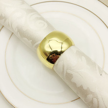 6PCS Western Hotel Tableware Set Table Ring Napkin Buckle Metal Towel
