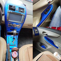 Car Styling 3D/5D Carbon Fiber Car Interior Center Console Color Change Molding Sticker Decals For Toyota Corolla 2007 2013