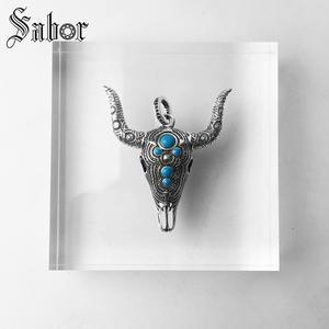 Image 5 - Pingente touro étnico crânio cor prata para as mulheres homens moda jóias presente coração rebelde pingente apto colar thomas