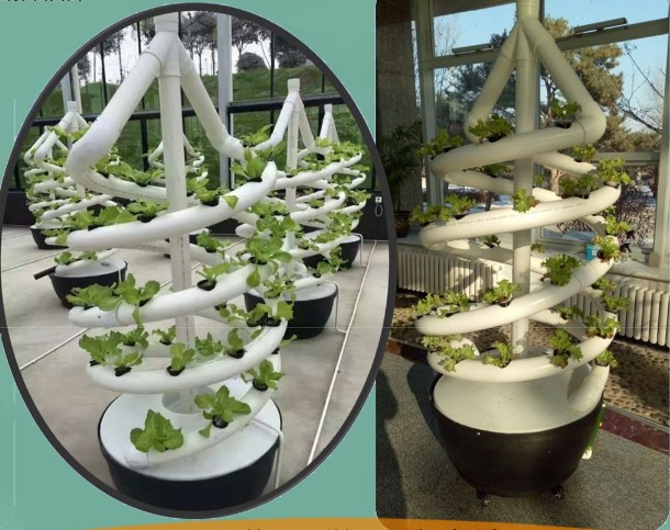 Spiral Planting System Aeroponics System With Bucket, Easy To Set Up