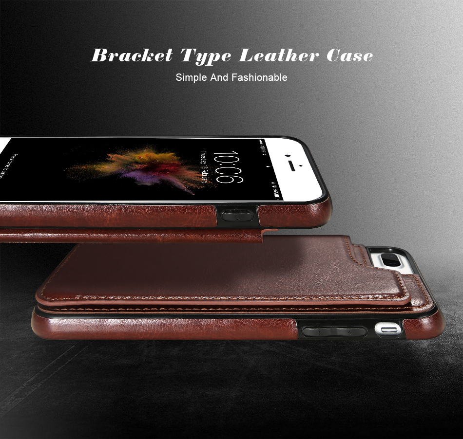KISSCASE Retro PU Leather Case For iPhone X 6 6s 7 8 Plus 5S SE Multi Card Holders Case Cover For iPhone 8 7 6 6s Plus X Shells 10