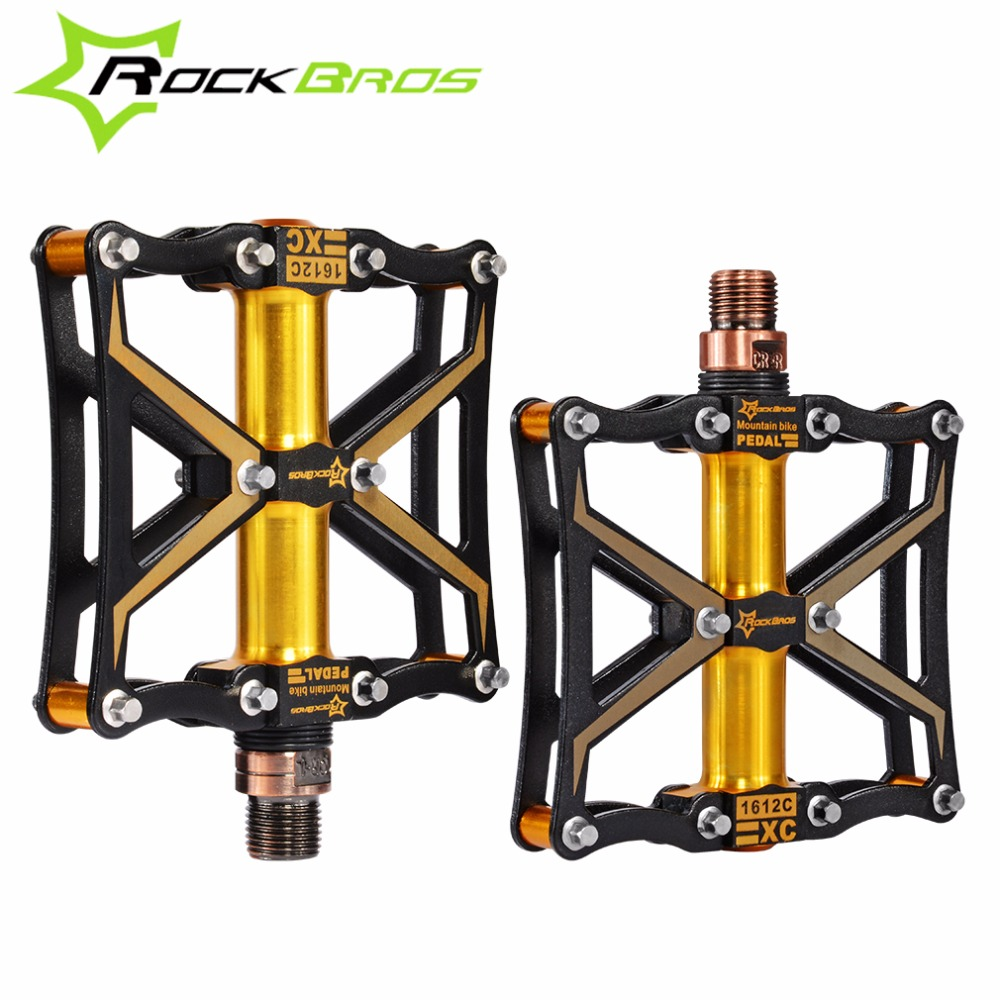 ROCKBROS Cycling Pedal Ultralight Magnesium Sealed Bearing MTB Pedal 4 Bearing Spindle Mountain Road Bike Pedal Bicycle Parts цена