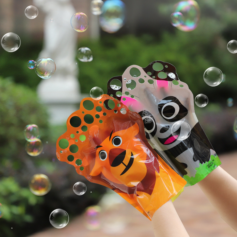 1pc Bubbles Brinquedos Birthday Party Decorations Kids Toys Soap Bubble Speelgoed Water Magic Gloves For Outdoor Fun Sports