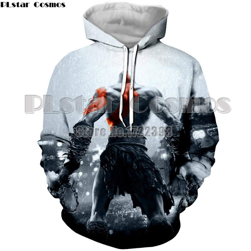 PLstar Cosmos Brand Fashion Hoodie Coats God of War Kratos 3D Printed Hoodies Sweatshirts Men/Women Hoodie Casual Tracksuits