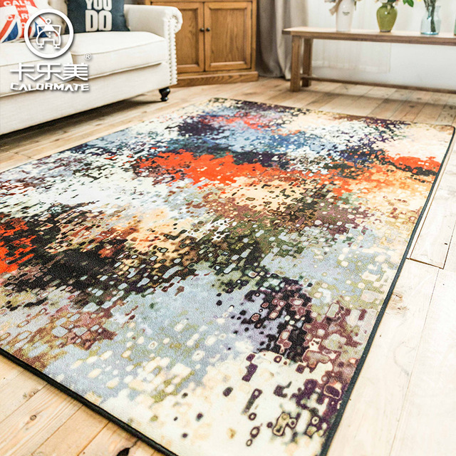 Large size fashion oil painting color sofa bedroom carpet environmental protection non slip - Tappeti ikea camera ...