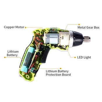 наборы аккумуляторных дрелей | 3,6 В зарядка переносная отвертка электрическая дрель Беспроводная отвертка многофункциональная отвертка/штепсельная вилка ЕС