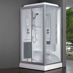 1300mm Square figuration luxury steam shower enclosures bathroom steam shower cabins jetted massage walking-in sauna rooms 8024 8 shower rooms cabins pulley