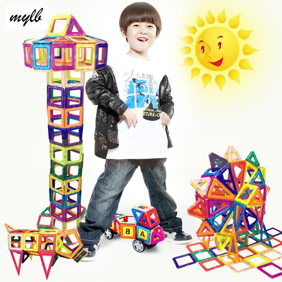 mylb 78PCS Magnetic Building Blocks Leksaker DIY Modeller Magnetisk Designer Lärande Pedagogisk Plast Tegel Barn Leksaker För Barn