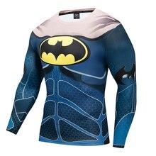 Superman Iron Man Batman Lange Mouw 3D UV Weerstaan Ademend T-shirt Mannen Movie
