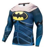 Superman Iron Man Batman Lange Mouw 3D UV Weerstaan Ademend T-shirt Mannen Film