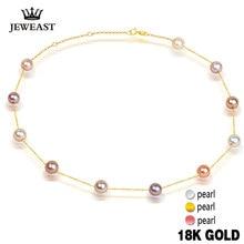 Жемчужное ожерелье с кулоном, 18k чистого золота, подарок для девушек и женщин, натуральный жемчуг, сплошное ожерелье, супер новинка 2017, модные партии оптом скидка