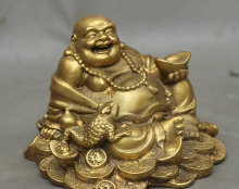 Feng Shui Happy Laughing Buddha For Wealth Luck with Golden Toad