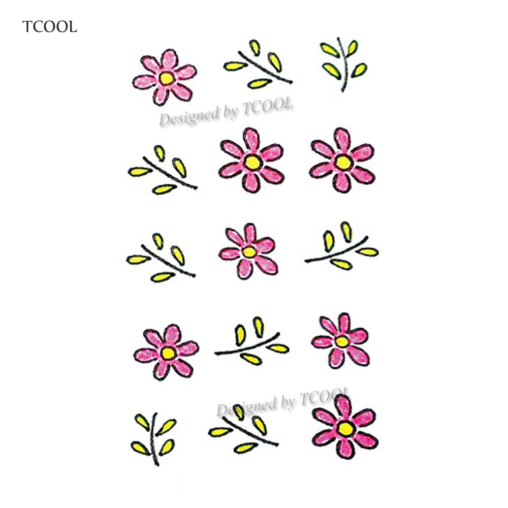 HXMAN Flower Temporary Tattoo Sticker Waterproof Fashion Women Face Fake Body Art  Children Adult Hand Tattoos 10.5X6cm P-098