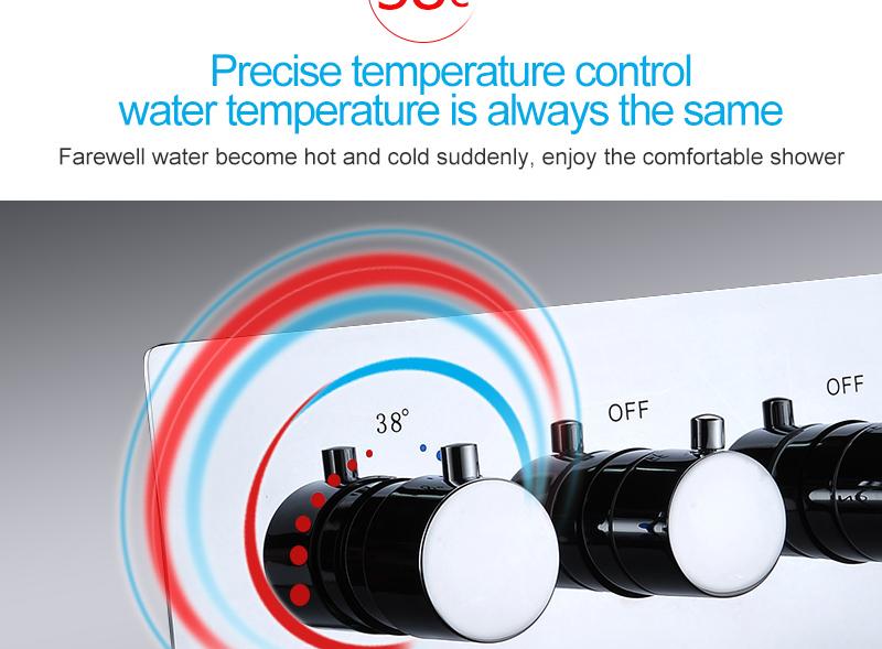 hm LED Ceiling Shower Set 20 Inch constant temperature Change Mist Rain Bathroom Shower Head Multiple Functions Shower Diverter (3)