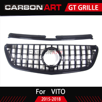 For Vito GT Grill Grille Vertical Style For Mercedes Benz MPV Auto Front Mesh 2015 2018 V250 V260 Car styling grille