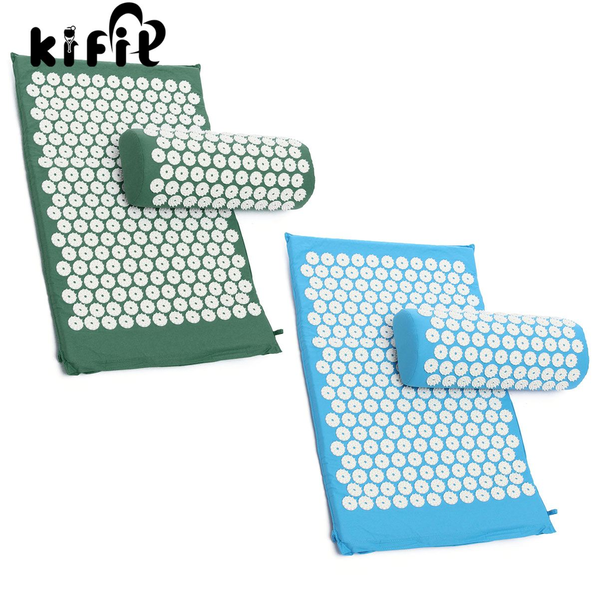 KIFIT Massager Cushion Acupressure Mat And Pillow Bed Meditation Relief Stress Pain Nail Yoga Health Care Tool mohd mazid and taqi ahmed khan interaction between auxin and vigna radiata l under cadmium stress