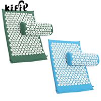 KIFIT Massager Cushion Acupressure Mat And Pillow Bed Meditation Relief Stress Pain Nail Yoga Health Care
