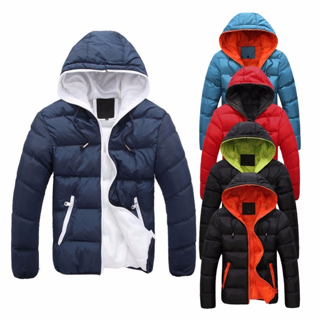9ebea8292 AOWOFS New Men's Slim Casual Warm Parka Overcoat Hoodie Jacket Hooded  Winter Thick Coat Male New Clothes casaco masculino