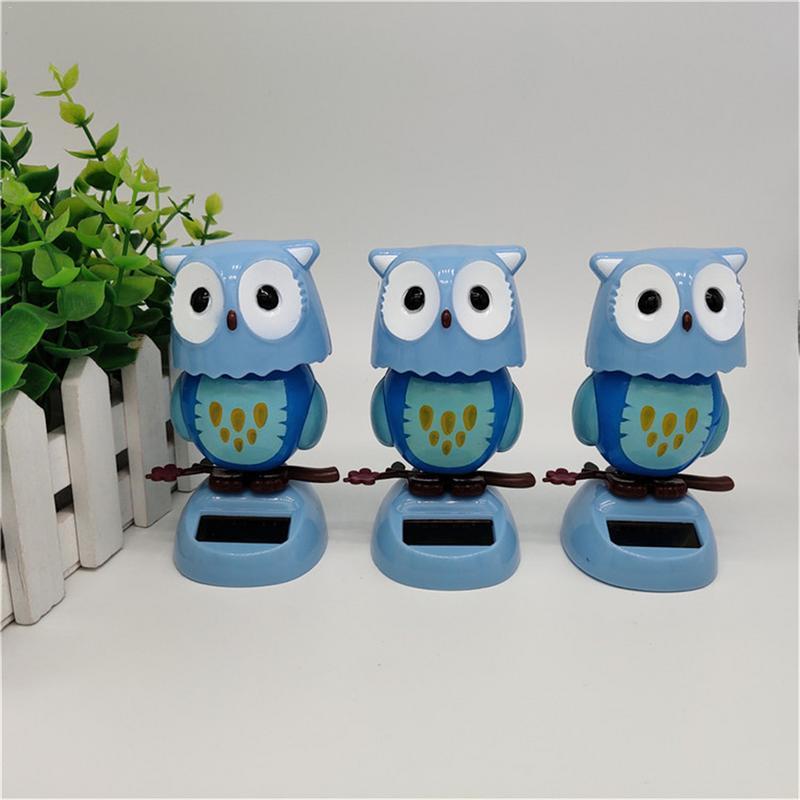 Solar Creative Swing Owl Shaking Head Doll Cartoon Decoration Gift Children's Toys Kids Birthday Halloween Ornaments