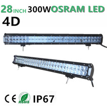 300W 28″ LED Work light Bar for SUV ATV UTV 4WD 4X4 Tractor Trailer Offroad Light Bar Fog Lamp Driving light Combo