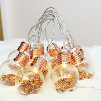 6M 40LED Retro Edison Rose Gold Globe Ball Bulb Lanterns LED String Lights Outdoor Garland Gerlyand For Party Wedding Decoration