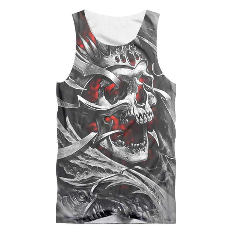 2018 Summer   Tops   Red Eyes Devil New Men's Vest 3D Printing O Collar Sleeveless Shirts Fashion Street Style   Tank     Tops