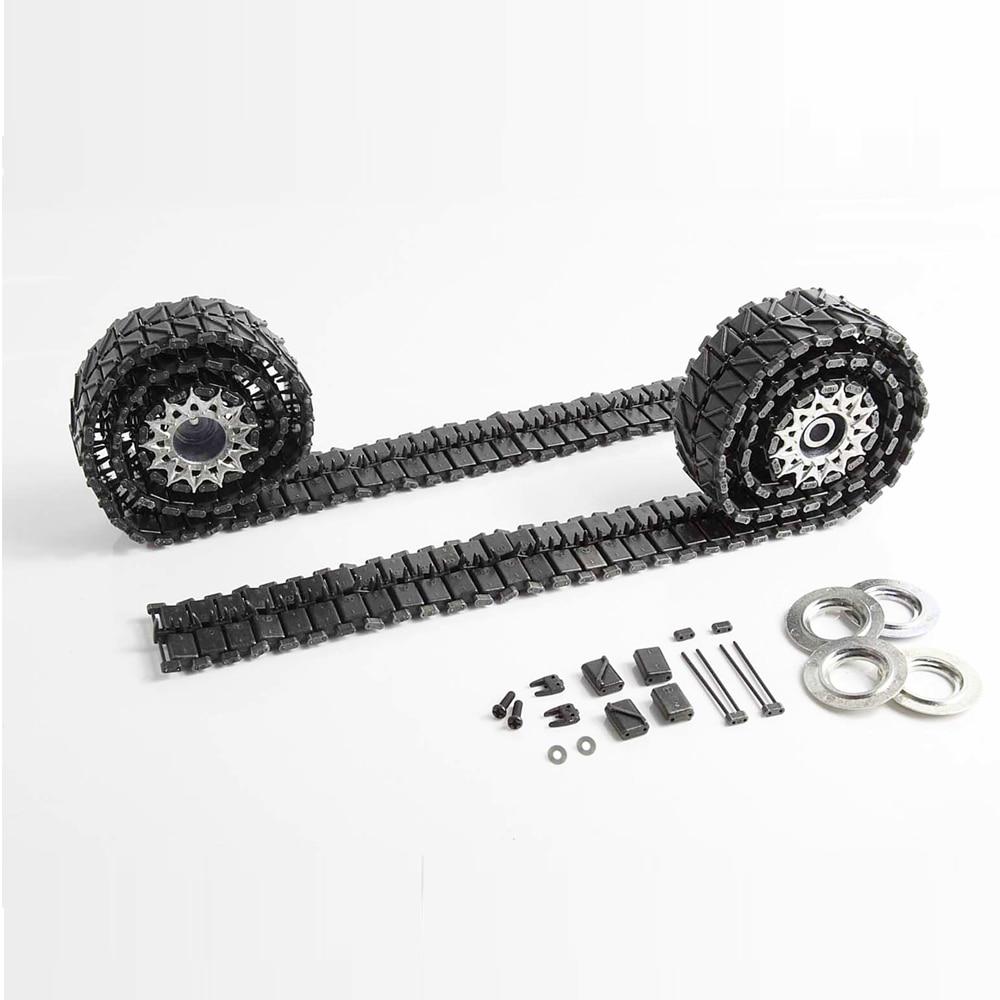 Mato Metal tank Tracks, metal sprockets drivinig wheels with rings set for Henglong 3838-1 1/16 1:16 USA M26 Pershing toy parts 1 16 mato 1 16 t74 metal tracks