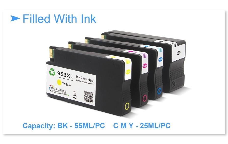 xl hp953 substituição cartucho de tinta para