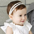 Baby Hair Accessories Lovely Baby Bow Lace Headband Headwear Hair Band Girl Infant Toddler hair Prinsess Style ornament  B20